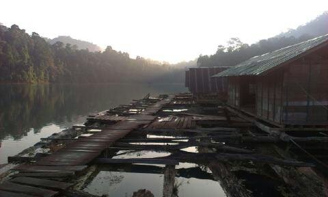 floating shack is a ranger station on Chiew Larn Lake from my time in Thailand